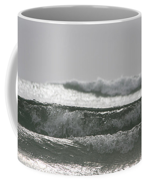 Waves Coffee Mug featuring the photograph Triple Wave Action by Holly Ethan
