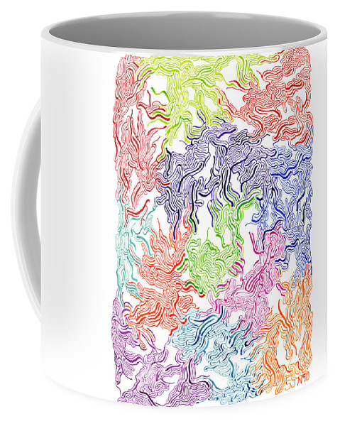 Mazes Coffee Mug featuring the drawing Tripping by Steven Natanson
