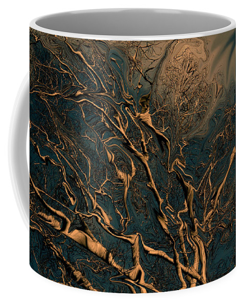 Trees Nature Abstract Digital Painting Coffee Mug featuring the photograph Trippy Tree by Linda Sannuti