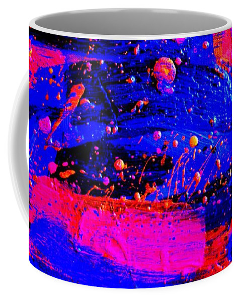 Abstract Coffee Mug featuring the painting Triptych 1 Cropped by John Nolan