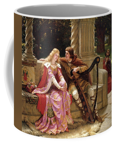 Edmund Blair Leighton Coffee Mug featuring the painting Tristan And Isolde by Edmund Blair Leighton
