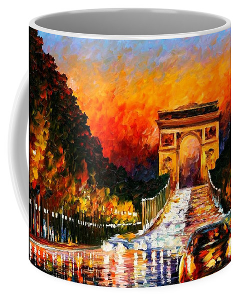 Afremov Coffee Mug featuring the painting Triumph by Leonid Afremov