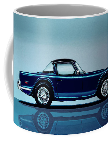 Triumph Tr5 Coffee Mug featuring the painting Triumph Tr5 1968 Painting by Paul Meijering