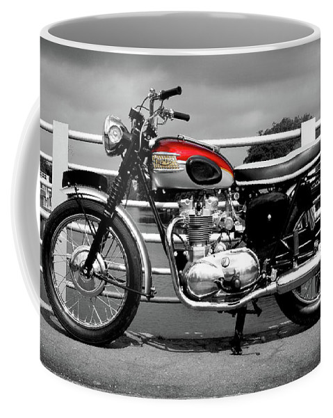 Triumph Trophy Coffee Mug featuring the photograph Triumph Trophy Tr6 1962 by Mark Rogan