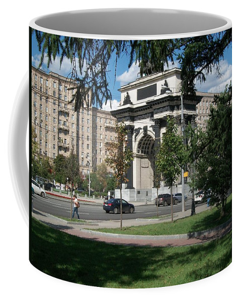 Triumphal Arch Coffee Mug featuring the photograph Shadows Of The Triumphal Arch by James Hanemaayer