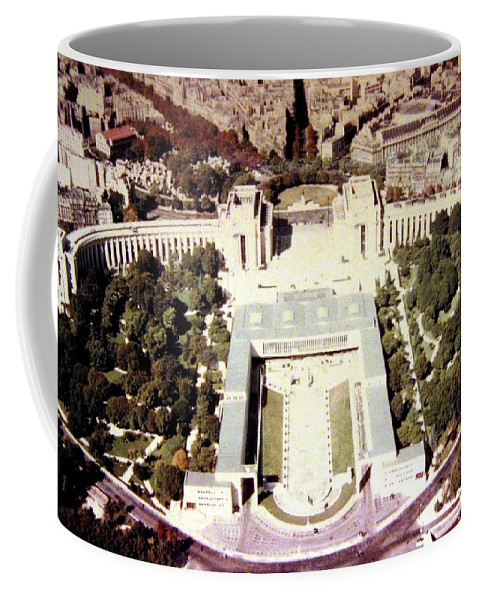 1955 Coffee Mug featuring the photograph Trocadero Palais De Chaillot 1955 by Will Borden