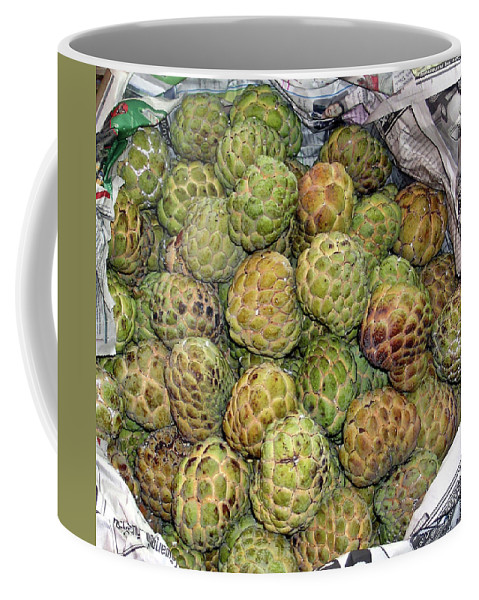 Thialand Coffee Mug featuring the photograph Troical Green Fruit 1 by Douglas Barnett