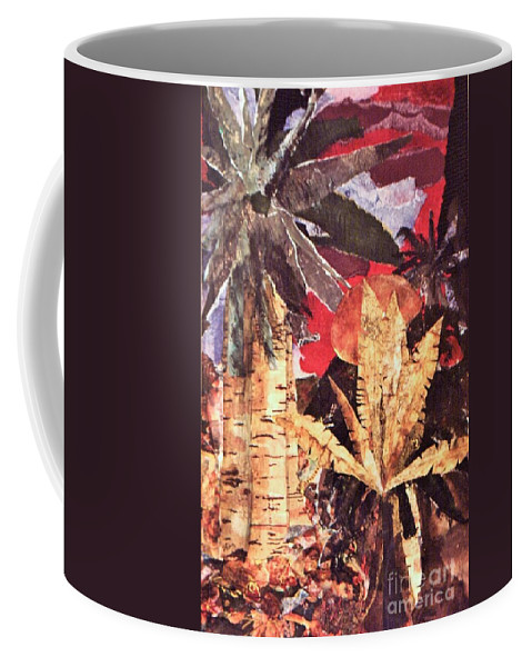 Abstract Coffee Mug featuring the mixed media Tropic Blaze by Sharon Eng