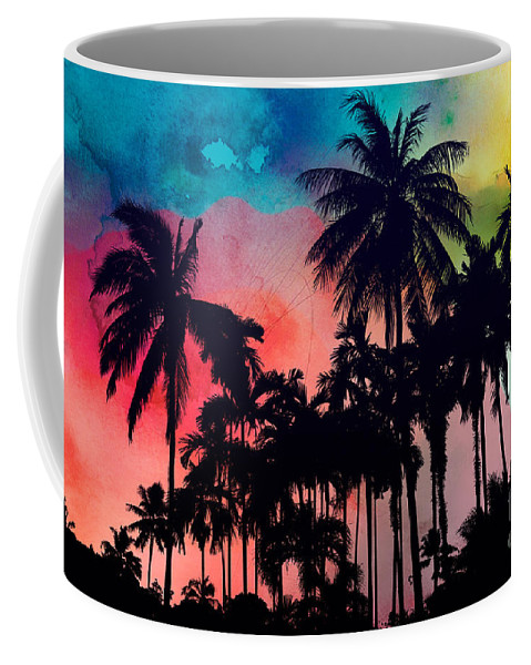 Coffee Mug featuring the painting Tropical Colors by Mark Ashkenazi