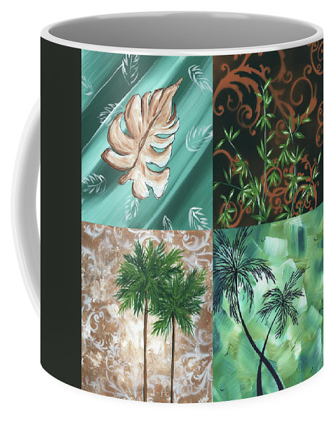 Wall Coffee Mug featuring the painting Tropical Dance Square By Madart by Megan Duncanson