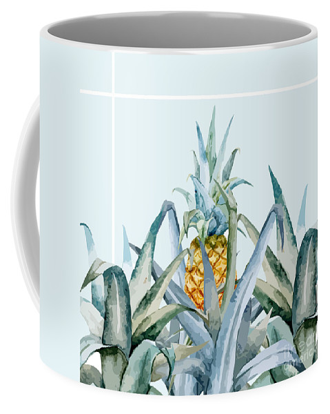 Summer Coffee Mug featuring the painting Tropical Feeling by Mark Ashkenazi