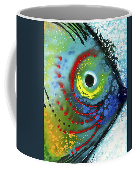 Animals Art Coffee Mug featuring the painting Tropical Fish by Sharon Cummings