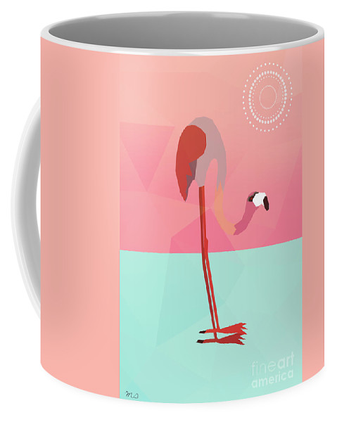 Flamingo Coffee Mug featuring the digital art Tropical Flamingo by Mark Ashkenazi