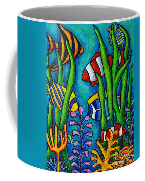 Tropical Coffee Mug featuring the painting Tropical Gems by Lisa Lorenz