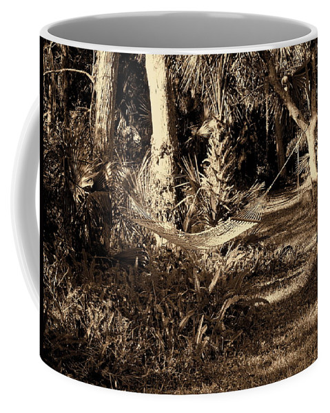 Hammock Coffee Mug featuring the photograph Tropical Hammock by Susanne Van Hulst