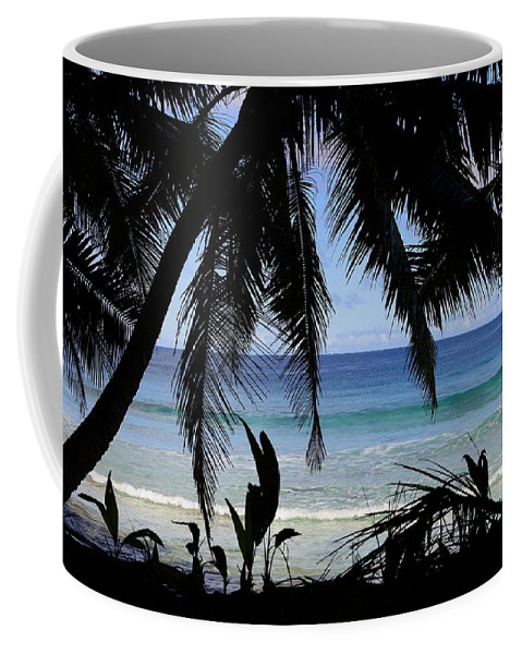 Blue Coffee Mug featuring the photograph Tropical Hole by Michael Scott