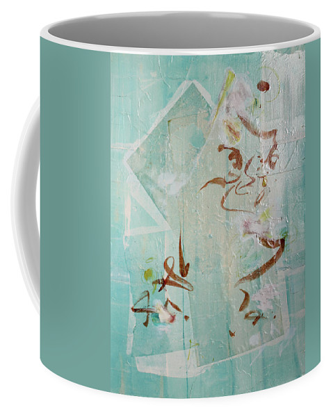 Abstract Painting Coffee Mug featuring the painting Tropical Sea Remembering Thailand by Asha Carolyn Young