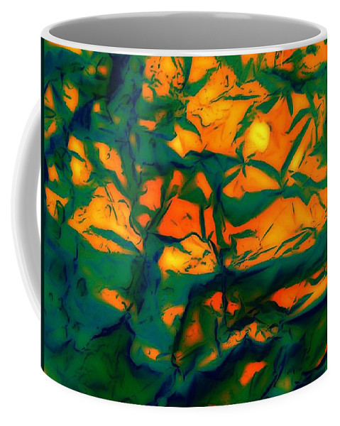 Beach Print Coffee Mug featuring the painting Tropical Sun by Elle Justine