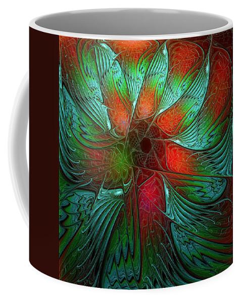 Digital Art Coffee Mug featuring the digital art Tropical Tones by Amanda Moore