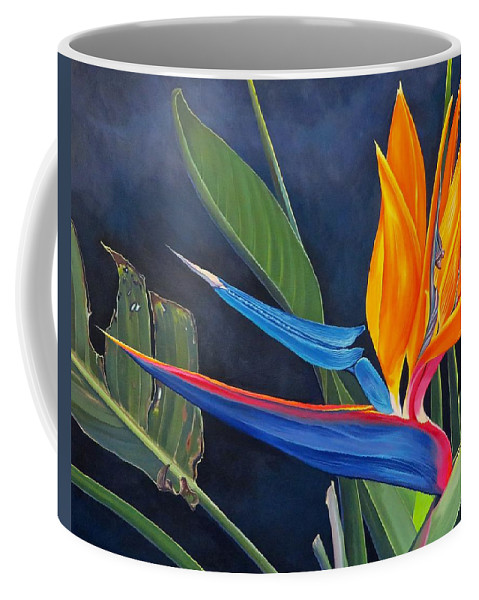 Botanical Coffee Mug featuring the painting Tropicoso by Hunter Jay