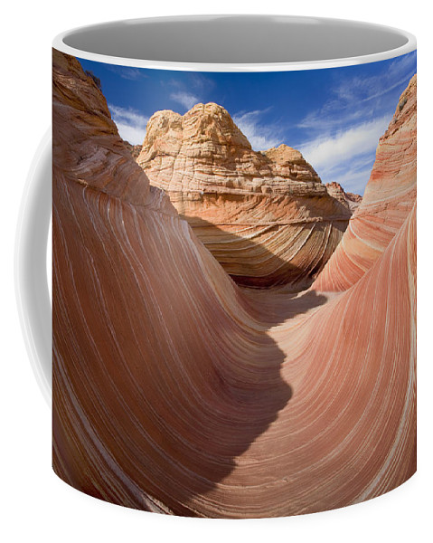 The Wave Coffee Mug featuring the photograph Trough Of The Wave by Mike Dawson