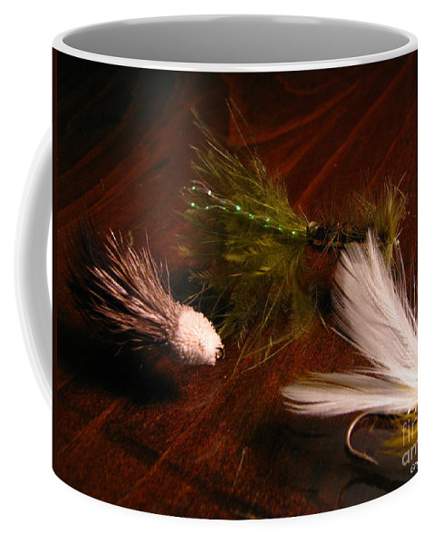 Patzer Coffee Mug featuring the photograph Trout Flys by Greg Patzer