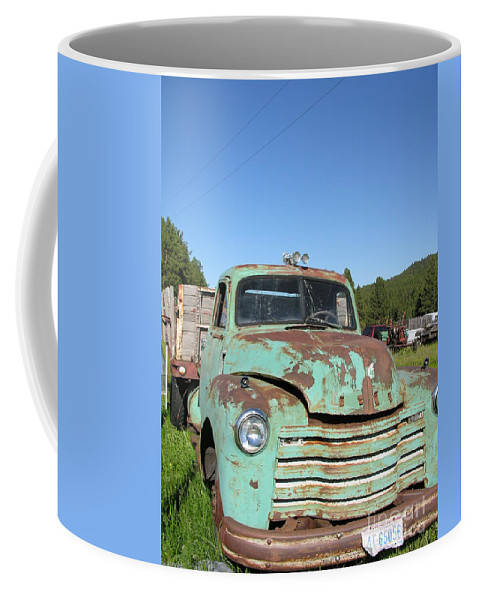 Truck Coffee Mug featuring the photograph Truck Montana by Diane Greco-Lesser