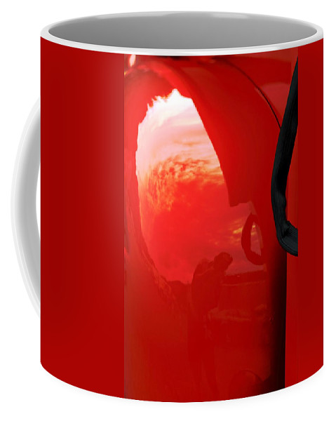 Cars Coffee Mug featuring the photograph Truck Reflection 2 by Karl Rose