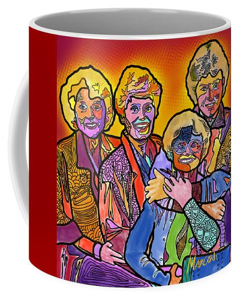 Golden Girls Coffee Mug featuring the digital art Truly Golden by Marconi Calindas