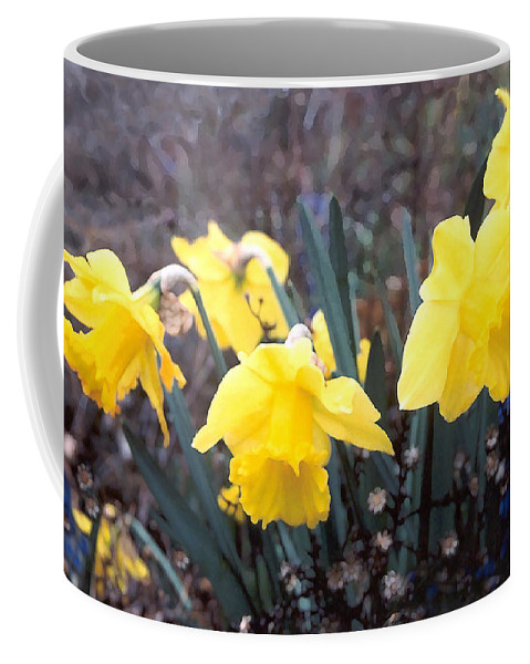 Flowes Coffee Mug featuring the photograph Trumpets Of Spring by Steve Karol