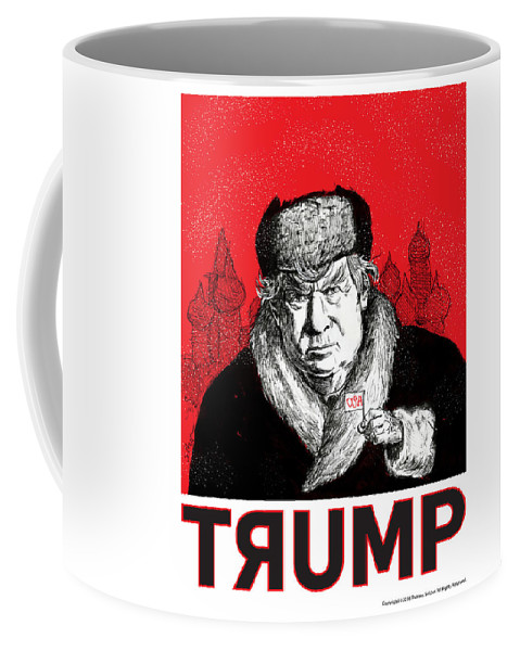 Politics Coffee Mug featuring the drawing Trumpski by Thomas Seltzer