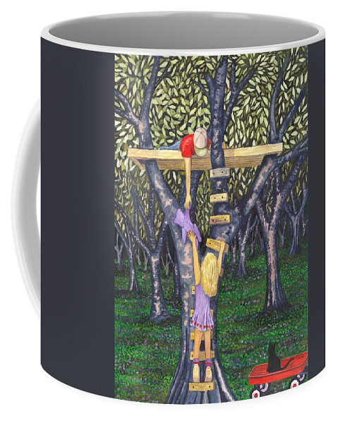 Children Coffee Mug featuring the painting Trust by Catherine G McElroy