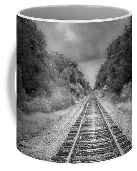 Railroad Coffee Mug featuring the photograph Trust In Him by Tamivision