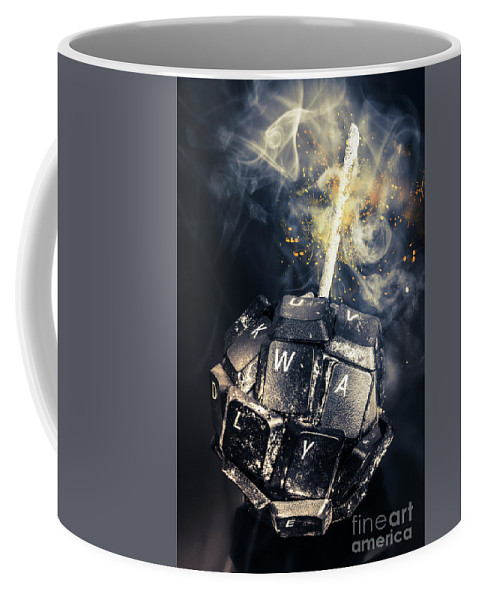 Technology Coffee Mug featuring the photograph Truth Bombs by Jorgo Photography - Wall Art Gallery