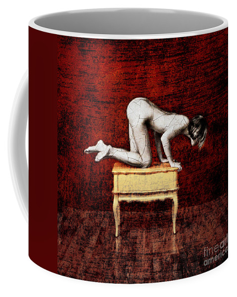 Nude Coffee Mug featuring the painting Truth From Fiction by Andre Giovina
