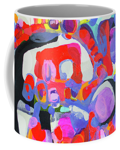 Abstract Coffee Mug featuring the painting Try Me by Claire Desjardins