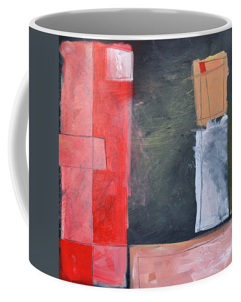 Pink Coffee Mug featuring the painting Trying To Get My Head Around Pink by Tim Nyberg