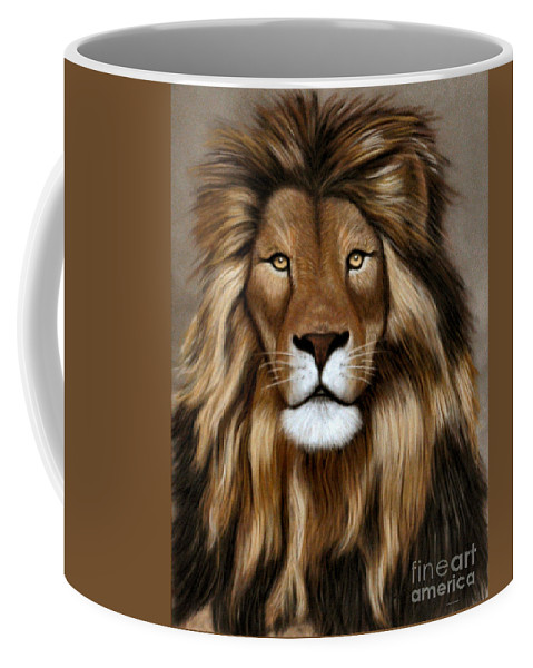 Tasvo Coffee Mug featuring the pastel Tsavo by Sandra Huston