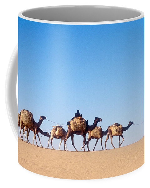 Africa Coffee Mug featuring the photograph Tuareg Journey Across The Desert by Michael S. Lewis