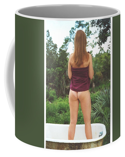 Everglades City Fl.professional Photographer Lucky Cole  Everglades City Photographer Lucky Cole Everglades City Glamour  Everglades City Beauty Everglades City Fl.photographer Lucky Cole  Angels Sexy Exotic Natural Beauty Glamorous Environmental Portraits Female Natural Settings  Exotic Beauty Wildlife  Everglades City Florida  Naples Florida Professional Photographer Lucky Cole Loop Road Coffee Mug featuring the photograph Tub 076 by Lucky Cole