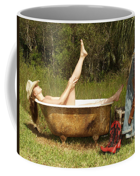 Everglades City Fl.professional Photographer Lucky Cole  Everglades City Photographer Lucky Cole Everglades City Glamour  Everglades City Beauty Everglades City Fl.photographer Lucky Cole  Angels Sexy Exotic Natural Beauty Glamorous Environmental Portraits Female Natural Settings  Exotic Beauty Wildlife  Everglades City Florida  Naples Florida Professional Photographer Lucky Cole Loop Road Coffee Mug featuring the photograph Tub 300 by Lucky Cole