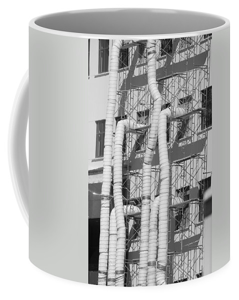 Tubes Coffee Mug featuring the photograph Tube Construction by Rob Hans
