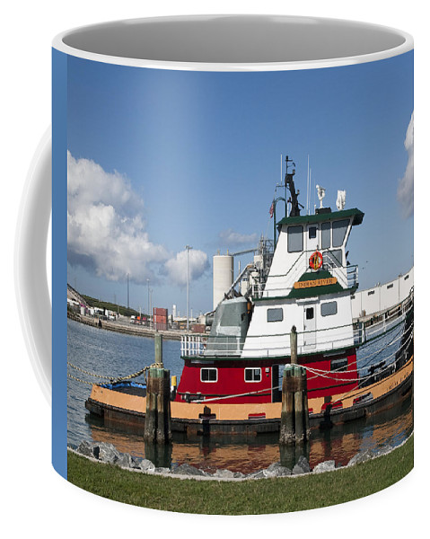Tug Coffee Mug featuring the photograph Tuboat Indian River by Allan Hughes