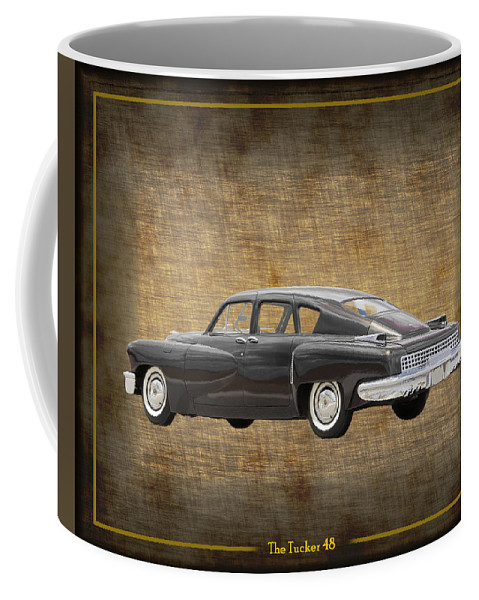 The Tucker 48 Was An Advanced Automobile Conceived By Preston Tucker And Briefly Produced In Chicago In 1948 Coffee Mug featuring the photograph Tucker 48 by Jack Pumphrey