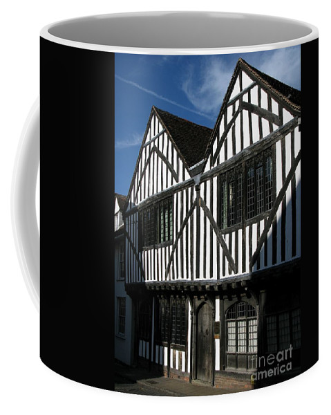 Tudor Coffee Mug featuring the photograph Tudor Timber by Ann Horn