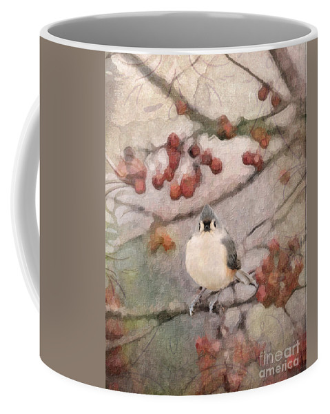 Tufted Titmouse Coffee Mug featuring the photograph Tufted Titmouse by Betty LaRue