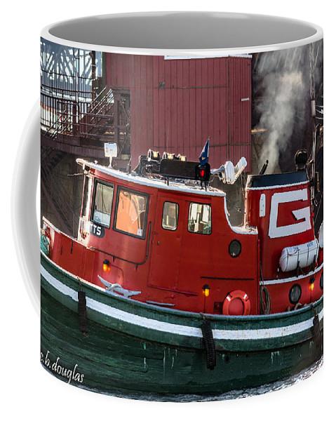 92nd Street Coffee Mug featuring the photograph Tug Massachusetts - Chicago by Christine Douglas