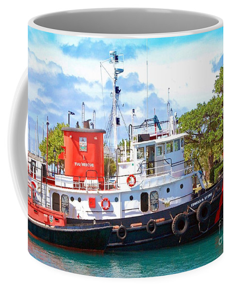 Boat Coffee Mug featuring the photograph Tug On It by Debbi Granruth