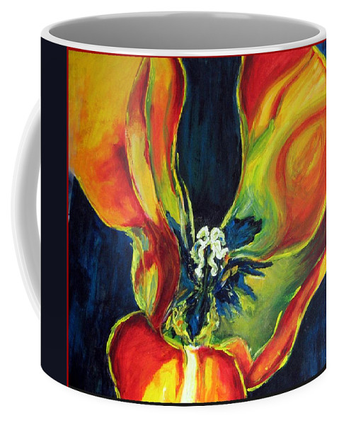 Tulip Coffee Mug featuring the painting Tulip by Dragica Micki Fortuna