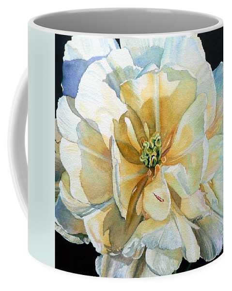 Tulip Painting Coffee Mug featuring the painting Tulip Intimate by Hanne Lore Koehler